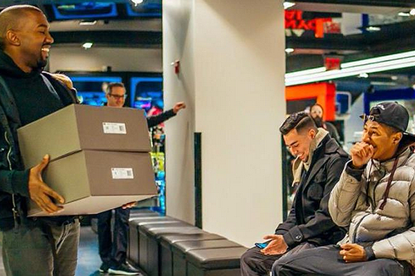 Happy sneaker shoppers receive great customer service for their sneakers