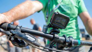 gopro hero5 on bike handlabars