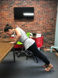 office yoga desk plank