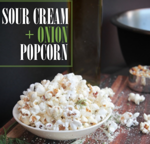gourmet popcorn sour cream and onion popcorn