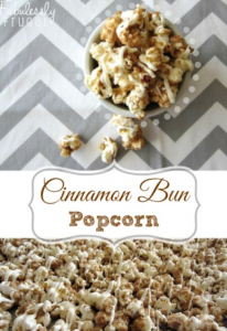 gourmet popcorn cinnamon bun popcorn