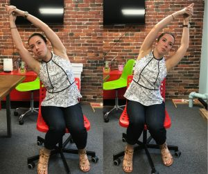 office yoga seated stretch