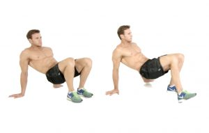 body weight exercises crab walk