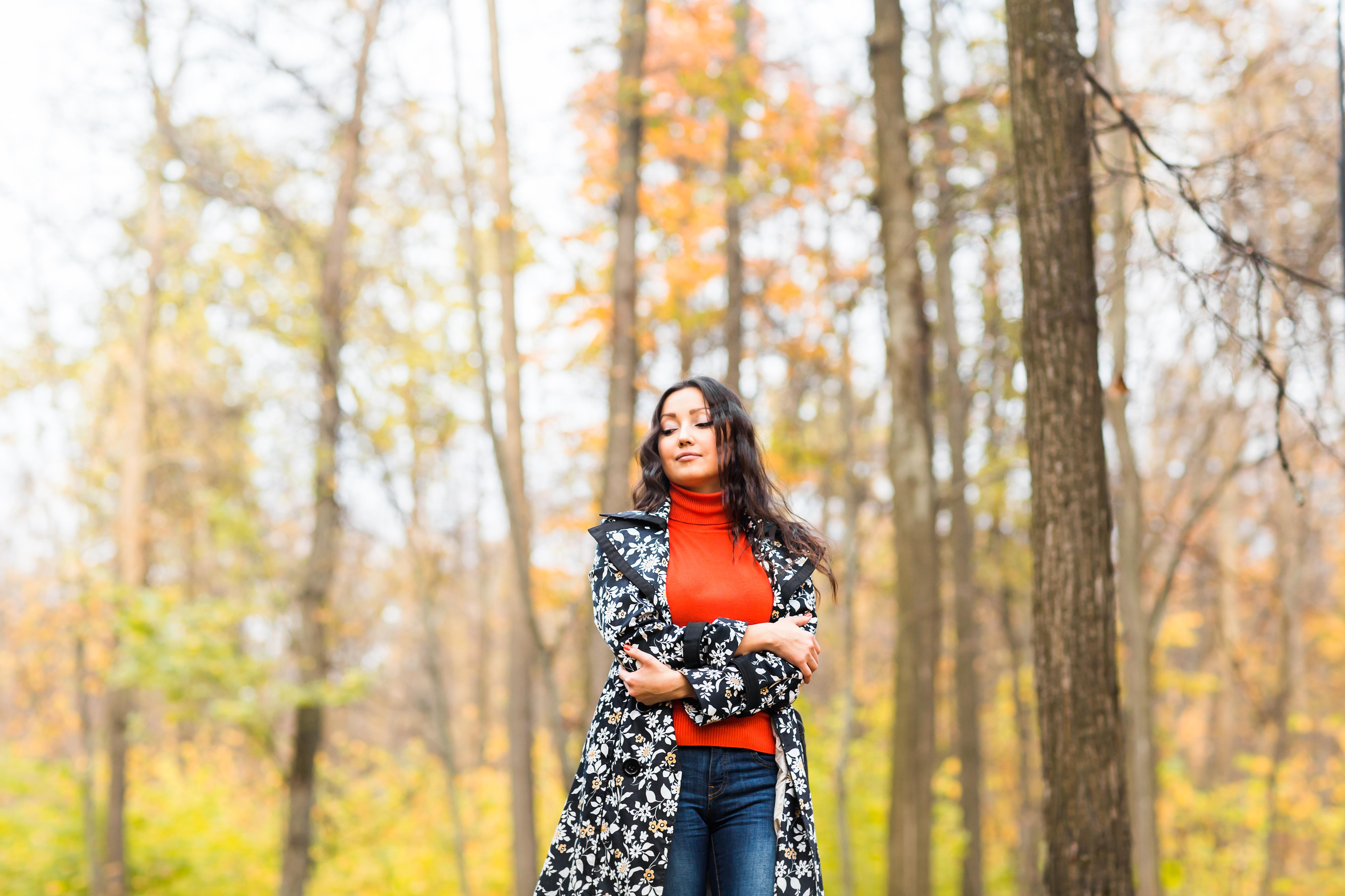 fall fashionable lady