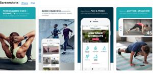 fitbit coach fitness app screenshots